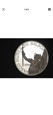 PANAMA 1978 20 Balboas 75th Anniversary Large Silver Proof