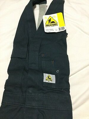 Men At Work Brand Work Overalls SIZE 89L ( Made By Hard Yakka ) ACTION BACK