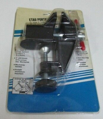 Portable Clamp-on Vice - 2.5 Inch / 63.5 mms - Non-Marring Jaws - Hobbies - New