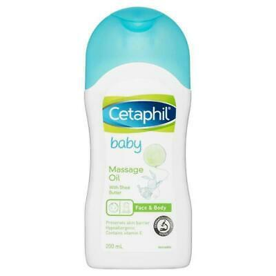 New Cetaphil Baby Massage Oil 200mL With Shea Butter & Vitamin E