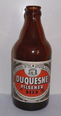 Duquesne Brewing Co. Pittsburgh PA. Labeled 12 oz Amber  Fort Duquesne Graphic