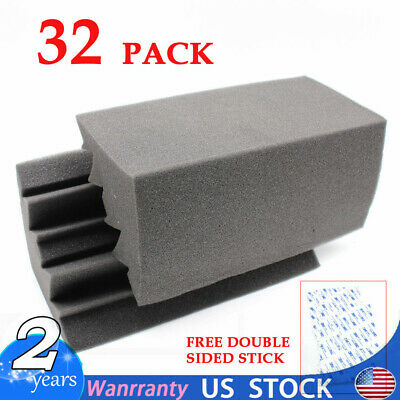 96x Acoustic Foam Panel Soundproofing Noise Absorbing Sound Insulation Reduction