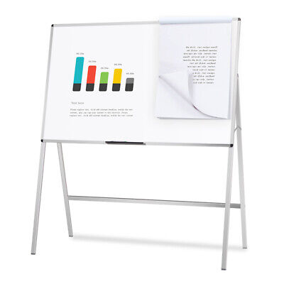 Melamine H-Stand Whiteboard / Adjustable Dry Erase Board Office Flipchart Easel
