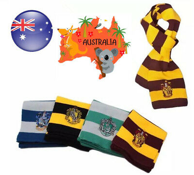 Harry Potter Adult Knitted Scarf Gryffindor Slytherin Hufflepuff Costume Cosplay
