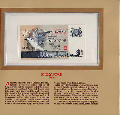 Most Treasured Banknotes Singapore 1976 1 Dollar P-9 GEM UNC Low # E/99 006976