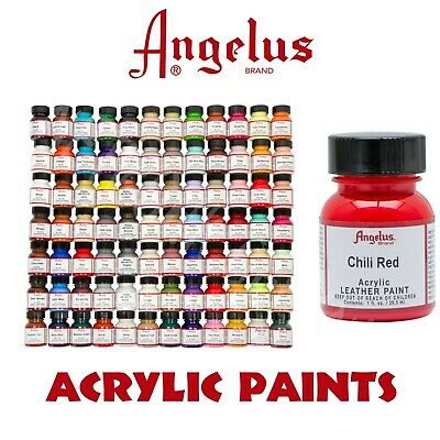 Angelus Acrylic Leather Paints 29.5ml , $9.95 CAPPED SHIPPING