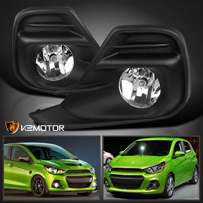 2016-2018 Chevy Spark Clear Bumper Driving Fog Lights Lamps Left+Right