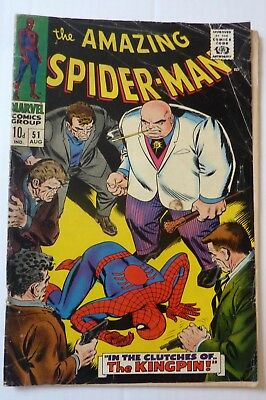 Amazing Spider-Man 51 Silver Age 1967 Second Kingpin
