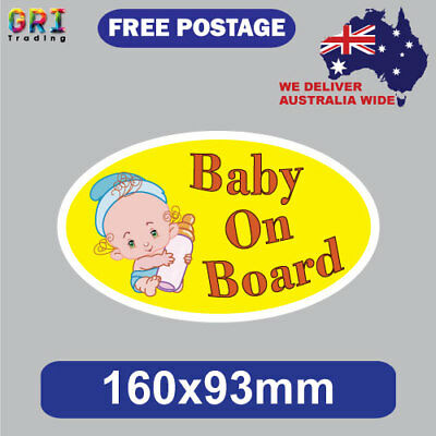 Baby On Board Sticker/ Decal - Boy Girl Vinyl Sign Cute Cool Toddler Newborn