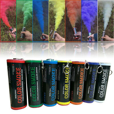 10X Lot Colorful Smoke Tube Smoke Effect Show Round Bomb Photography Aid Toy US