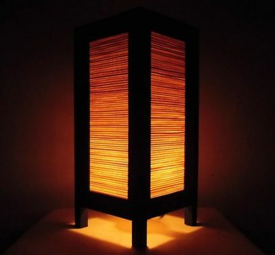 Handmade Vintage Asian Oriental Bedside Table Light Japanese Modern Style Art
