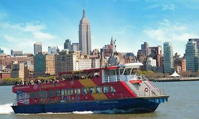 2 Tickets für New York CitySightseeing 90-Minute Skyline Cruise