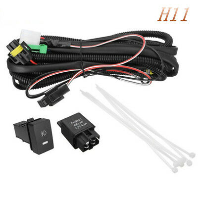 H11 Wiring Harness Sockets Wire LED Indicators Switch fog light wire harness 1x