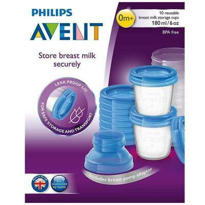 New AVENT Breast Milk Storage Containers 10x 180mL