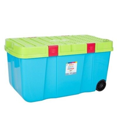 100Ltr Deluxe Multipurpose Storage Box With Wheels Strong & Durable Heavy Duty