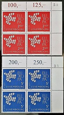 Luxembourg 1961 Sc # 354 to Sc # 355 MNH Blocks Europa Stamps