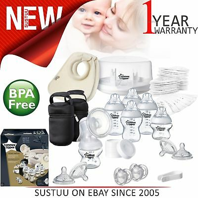 Tommee Tippee Closer to Nature Microwave Steriliser+Manual Breast Pump│Baby Care
