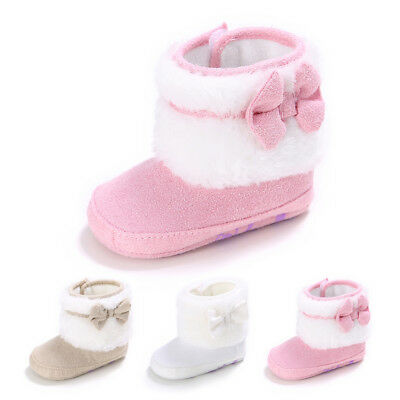 Newborn Baby Infant Toddler Girl Snow Boots Crib Shoes Prewalker Booties HOT