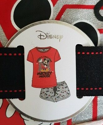 New Disney Mickey Mouse Pj Set Pyjamas Shorts and top Womens Ladies Primark