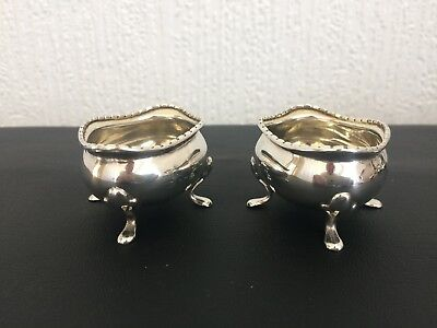 A pair of Silver Salt Cellars Hallmarked Birmingham 1913