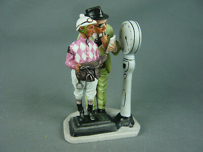 """Norman Rockwell Figur """" The Weigh - In """" Saturday Evening Post 1974 Jockey Derby"""