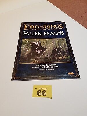The Lord of the Rings SBG, The Fallen Realms army rulebook.