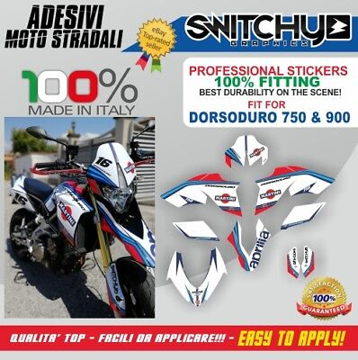 Kit Adesivi Grafiche Martini Aprilia Dorsoduro 750 Decals Dekor Stickers