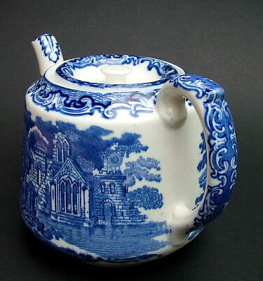 Vintage 1930's George Jones & Sons Blue & White Abbey Pattern 1.5Pt Teapot & Lid