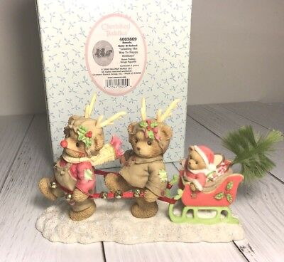 Cherished Teddies Rare 2006~ Ronnie, Ruby & Robert #4005869~ Nib!