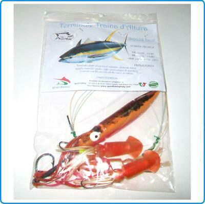 Finale Squid Bait 24Cm Kajiki7 Orange Tiger Traina Altura Per Tonno Spada Marlin