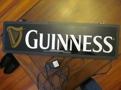 guinness lighted hanging sign