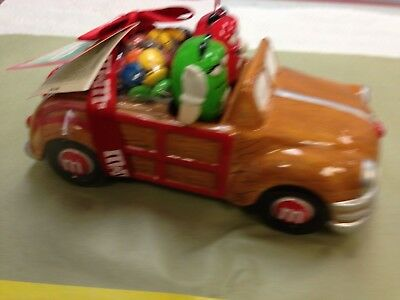 M & M  Woody Wagon Ceramic Dispenser