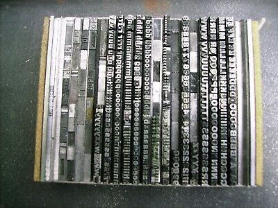 Letterpress Type 10pt Grotesque / Gothic Bold