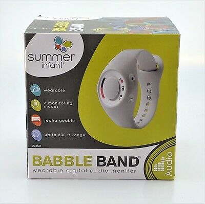 Summer Infant Babble Band Wearable Audio Baby Monitor Factory Sealed New