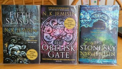 N K Jemisin Limited Edition Broken Earth Trilogy Signed and Numbered UK HBs