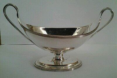 Quality Silver Plate on Copper Pedestal Sauce Boat