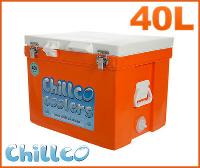 40L Chillco Ice Box Cooler Chilly Bin Superior Ice Retention - Rrp $300