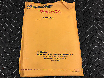 Bally Midway Transporter the Rescue Pinball Machine Manual Schematics FREE SHIP