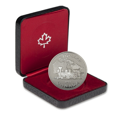 1981 Canada .500 Fine Silver Proof Dollar Railroad in a Royal Canadian Mint Box