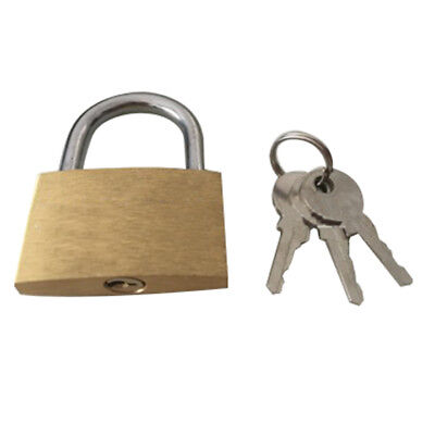 1pcs Solid keys Brass Padlock Yellow 40mm T6H8