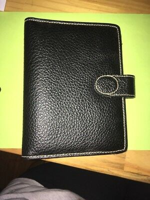 Black Leather Planner BY LILLIAN VERNON