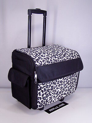 EVERYTHING MARY ROLLING Sewing Machine CASE Roller Tote Black White Best Everything Mary Sewing Machine Tote