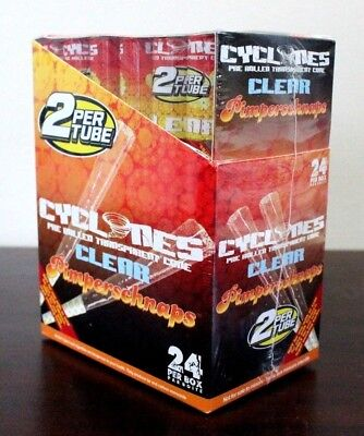 Cyclone Clear Flavored Pimperschnaps Pre Rolled Cones~24 Count~48 Total~FRESH