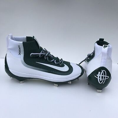 d84661ea4150f Men s Nike Huarache 2K Filth Elite Mid Metal Baseball Cleats Green White  11.5