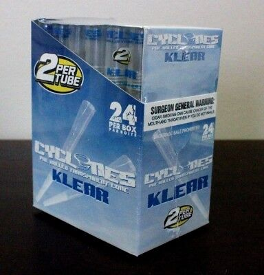 Cyclone Clear Flavored Klear Pre Rolled Cones~24 Count~48 Total~Sealed~Fresh