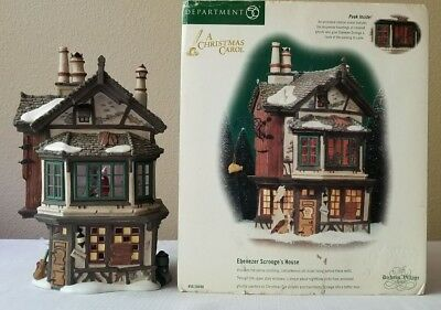 Dept. 56 Dickens Village Ebenezer Scrooge's Brownstone House 58490 Ghosts Spin