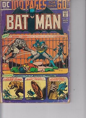 Batman 256 - 1974 - 100 pages - Very Good