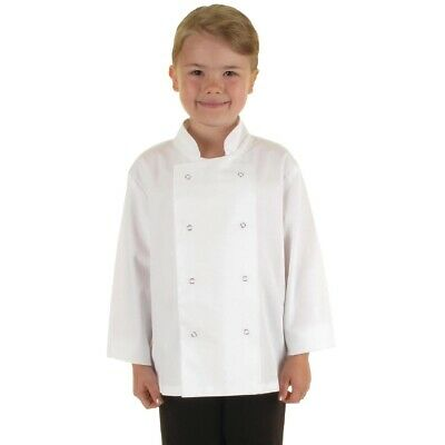 Whites Childrens Unisex Chef Jacket White S (Next working day UK Delivery)