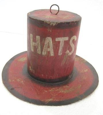 6bdd9bc1cae152 OLD TRADE SIGN Hat , Store Display . Wrought Iron ,