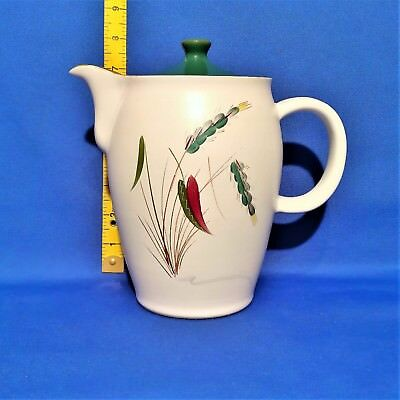 Denby Greenwheat Coffee Pot (2.5 Pint) - Vintage Stoneware VGC